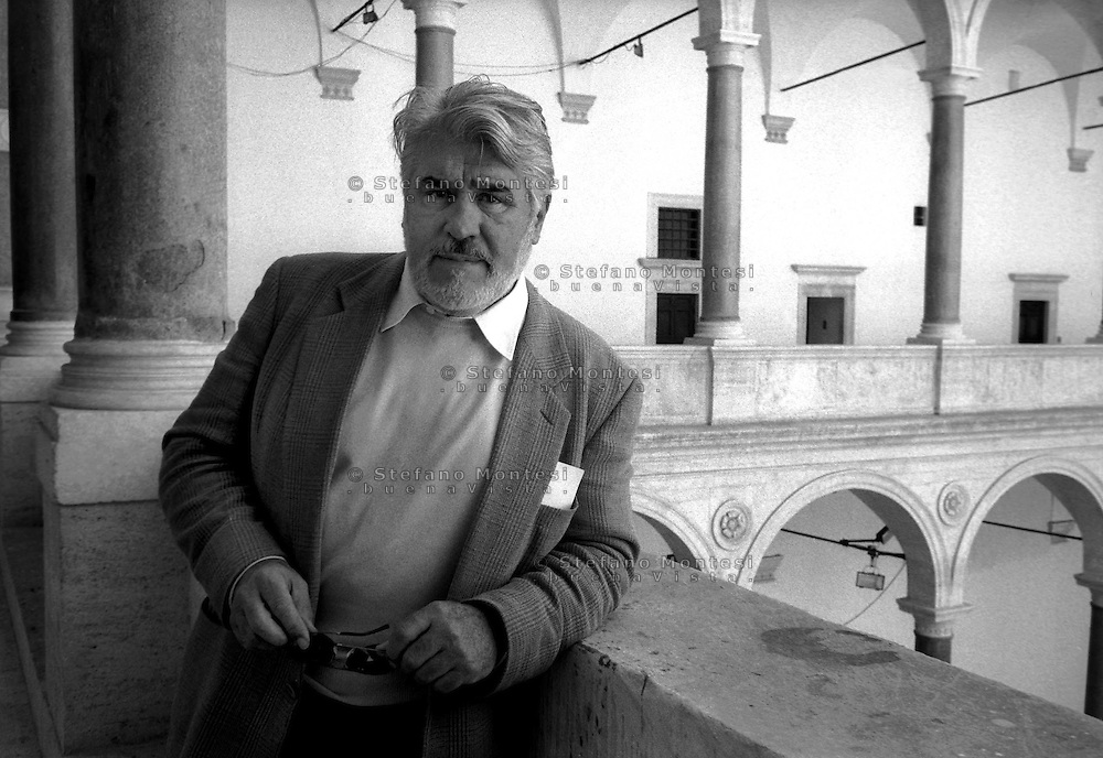March 1997..Swiss actor Mario Adorf in Rome..in the Building of the Cancelleria to Piazza della Cancelleria