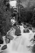 Waterfall during the high water season on Yosemite National Park