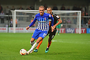 Hartlepool United striker Lewis Alessandra (15) attacks during the EFL Sky Bet League 2 match between Barnet and Hartlepool United at Underhill Stadium, London, England on 29 October 2016. Photo by Jon Bromley.