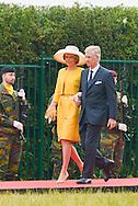 Ceremony of the bicentenary of the Battle of Waterloo. Waterloo, 18 june 2015, Belgium<br /> Pics: King Philippe of Belgium<br /> Queen Mathilde of Belgium