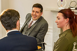 Pictured: <br /> <br /> Employability and training minister Jamie Hepburn MSP, visited Grant Property in Edinburgh today to announce the latest labour market statistics and to award the company the 350th Investors in Young People award. <br /> <br /> Ger Harley | EEm 14 December 2016