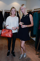 Left to right, ARABELLA LLEWELLYN daughter of the late Sir Dai Llewellyn and SOPHIE CROSS at a preview evening of the Leon Max Autumn Winter Collection 2013 held at Leon Max, 229 Westbourne Grove, London W11 on 24th September 2013.