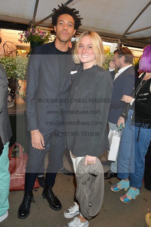 CHARLIE CASELY-HAYFORD and SOPHIE ASHBY at a party to celebrate the launch of the Taylor Morris Eyewear's Summer Collection held at The Chelsea Gardner, 125 Sydney Street, London on 20th May 2015.