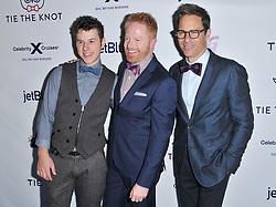 (L-R) Nolan Gould, Jesse Tyler Ferguson and Eric McCormack at Jessie Tyler Ferguson's 'Tie The Knot' 5 Year Anniversary celebration held at NeueHouse Hollywood in Los Angeles, CA on Thursday, October 12, 2017. (Photo By Sthanlee B. Mirador/Sipa USA)