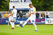 Leeds United Ezgjan Alioski (10) warming up during the Pre-Season Friendly match between Tadcaster Albion and Leeds United at i2i Stadium, Tadcaster, United Kingdom on 17 July 2019.