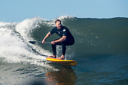 Dave Shively, SUP surfing in SoCal.