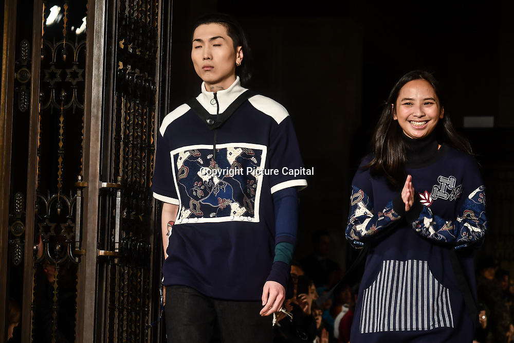 Indonesian Fashion Showcase - Jera at Fashion Scout London Fashion Week AW19 on 16 Feb 2019, at Freemasons' Hall, London, UK.