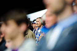 A Bristol Rovers supporter looks on with his side losing 3-2 - Photo mandatory by-line: Rogan Thomson/JMP - 07966 386802 - 19/04/2014 - SPORT - FOOTBALL - Fratton Park, Portsmouth - Portsmouth FC v Bristol Rovers - Sky Bet Football League 2.