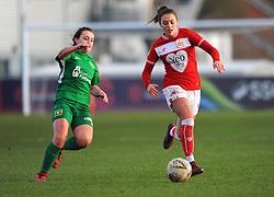 Nicola Cousins of Yeovil Town Ladies tackles Ella Rutherford of Bristol City- Mandatory by-line: Nizaam Jones/JMP - 27/01/2019 - FOOTBALL - Stoke Gifford Stadium - Bristol, England - Bristol City Women v Yeovil Town Ladies- FA Women's Super League 1