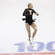 Agnes Zawadzki competes during the championship ladies free skate at the 2014 US Figure Skating Championships at the TD Garden on January 11, 2014 in Boston, Massachusetts.