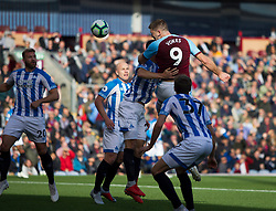 Sam Vokes of Burnley scores his sides first goal - Mandatory by-line: Jack Phillips/JMP - 06/10/2018 - FOOTBALL - Turf Moor - Burnley, England - Burnley v Huddersfield Town - English Premier League