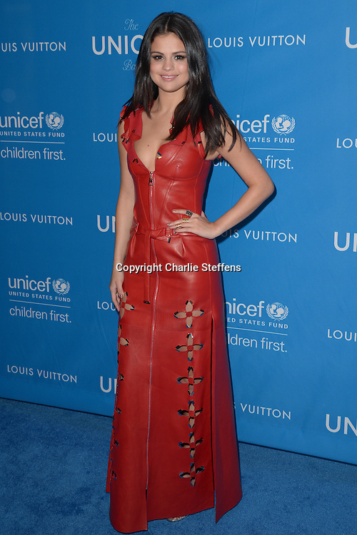 Selena Gomez attends the Sixth Biennial UNICEF Ball on January 12, 2016, at the Beverly Wilshire Hotel, Beverly Hills, California.<br /> (Photo: Charlie Steffens/Gnarlyfotos)