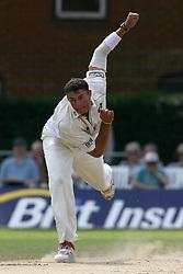 Surrey's Andre Nel bowls against Derbyshire