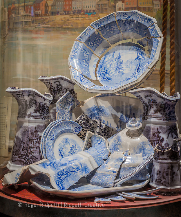 elegant painted china from the Arabia Steamboat Museum