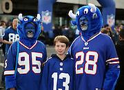 Buffalo Bills fans prior to kick off during the Buffalo Bills v Jacksonville Jaguars NFL International Series match at Wembley Stadium, London, England on 25 October 2015. Photo by Matthew Redman.