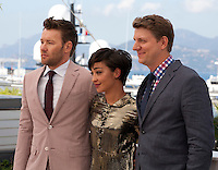 Irish-Ethiopian Actress Ruth Negga with Actor Joel Edgerton (left) and Director Jeff Nichols (right) at the Loving film photo call at the 69th Cannes Film Festival Monday 16th May 2016, Cannes, France. Photography: Doreen Kennedy