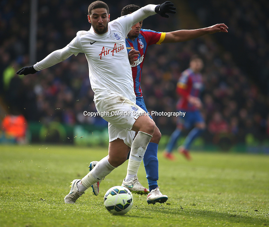 14 March 2015 - Barclays Premier League - Crystal Palace v Queens Park Rangers - Adel Taarabt of QPR brings the ball under control.<br /> <br /> Photo: Ryan Smyth/Offside