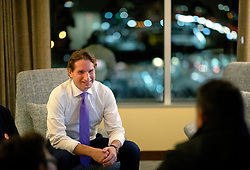 Dean Phillips (D-Minn.) watches returns from a hotel room at his election night headquarters at the Hilton Bloomingtonon Tuesday, November 6, 2018, in Bloomington, Minn. Photo by Carlos Gonzalez/Minneapolis Star Tribune/TNS/ABACAPRESS.COM