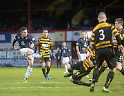 Ryan Conroy fires in a shot - Dundee v Alloa Athletic, SPFL Championship at Dens Park<br /> <br />  - &copy; David Young - www.davidyoungphoto.co.uk - email: davidyoungphoto@gmail.com