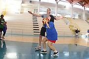 DESCRIZIONE : Alba Adriatica Nazionale Femminile Allenamento con i ragazzi di Special Crabs<br /> GIOCATORE : Kathrin Ress<br /> SQUADRA : Nazionale Italia Donne<br /> EVENTO : Raduno Collegiale Nazionale Femminile <br /> GARA : <br /> DATA : 23/05/2009 <br /> CATEGORIA : <br /> SPORT : Pallacanestro <br /> AUTORE : Agenzia Ciamillo-Castoria/C.De Massis