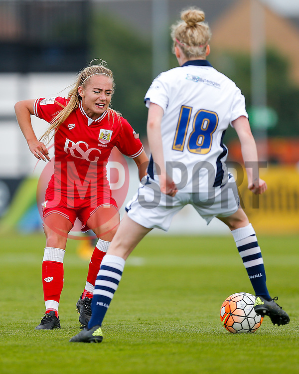 Charlie Estcourt of Bristol City Women passes - Mandatory byline: Rogan Thomson/JMP - 09/07/2016 - FOOTBALL - Stoke Gifford Stadium - Bristol, England - Bristol City Women v Milwall Lionesses - FA Women's Super League 2.