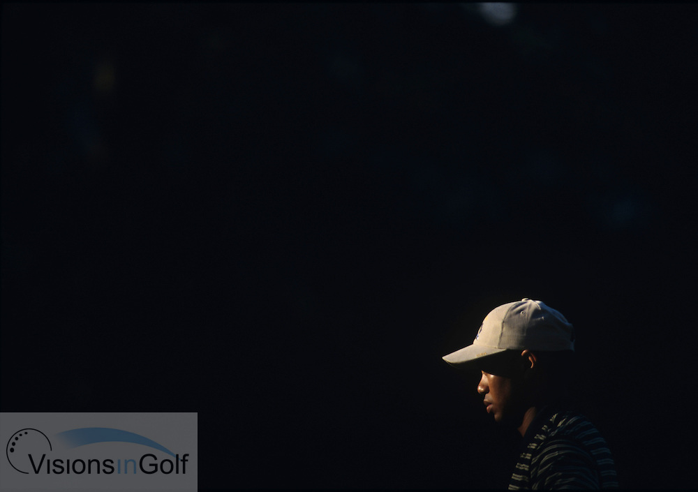 Tiger Woods<br /> Ryder Cup 1995<br /> Picture Credit:  Mark Newcombe / www.visionsingolf.com