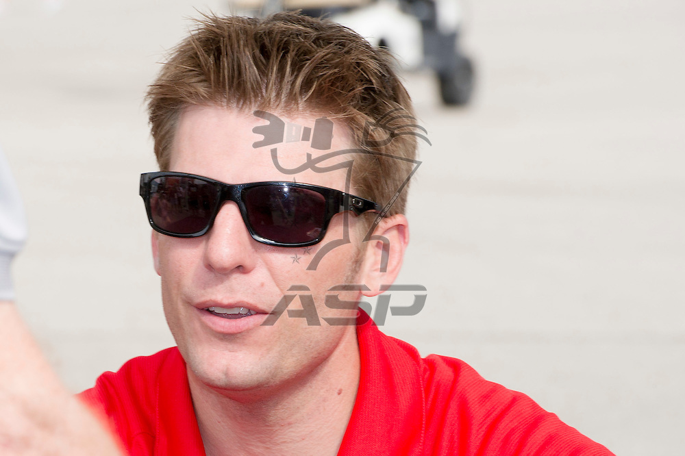 Brooklyn, MI - JUN 17, 2012: Jamie McMurray participates in a meet-and-greet for fans prior to the running of the Quicken Loans 400 race at the Michigan International Speedway in Brooklyn, MI.
