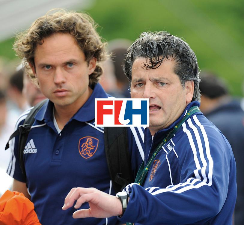 Monchengladbach - Champions Trophy men<br /> England vs Netherlands<br /> foto: Paul van Ass at the end of the match.<br /> FFU Press Agency  COPYRIGHT Frank Uijlenbroek