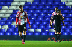 Ethan Robson of Sunderland cuts a dejected figure after his side concede a goal - Mandatory by-line: Robbie Stephenson/JMP - 30/01/2018 - FOOTBALL - St Andrew's Stadium - Birmingham, England - Birmingham City v Sunderland - Sky Bet Championship