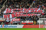 ALKMAAR - 11-12-2016, AZ -  Feyenoord, AFAS Stadion, spandoek