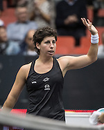 Carla Suarez Navarro (ESP) during the WTA Generali Ladies Open at TipsArena, Linz<br /> Picture by EXPA Pictures/Focus Images Ltd 07814482222<br /> 11/10/2016<br /> *** UK &amp; IRELAND ONLY ***<br /> <br /> EXPA-REI-161011-5015.jpg