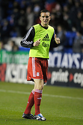 Reading, England - Saturday, December 8, 2007: Liverpool's Jack Hobbs warms-up before the Premiership match against Reading at the Madejski Stadium. (Photo by David Rawcliffe/Propaganda)