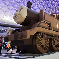 Thomas the Tank Engine arrives at King's Cross Station