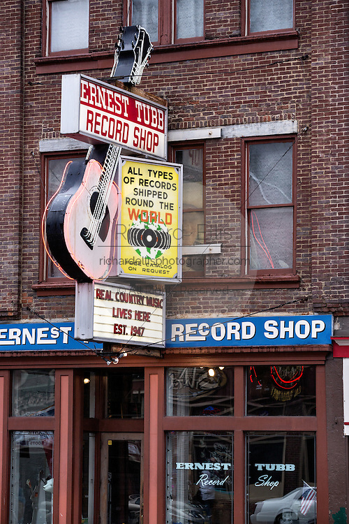 Legendary Ernest Tubb Record Shop in Nashville, TN.