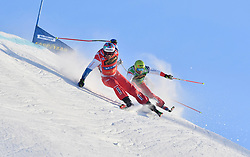 13.01.2018, Idre Fjall, Idre, SWE, FIS Weltcup Ski Cross, Idre Fjall, im Bild Alex Fiva and Armin Niederer // during the FIS Ski Cross World Cup at the Idre Fjall in Idre, Sweden on 2018/01/13. EXPA Pictures © 2018, PhotoCredit: EXPA/ Nisse Schmidt<br /> <br /> *****ATTENTION - OUT of SWE*****