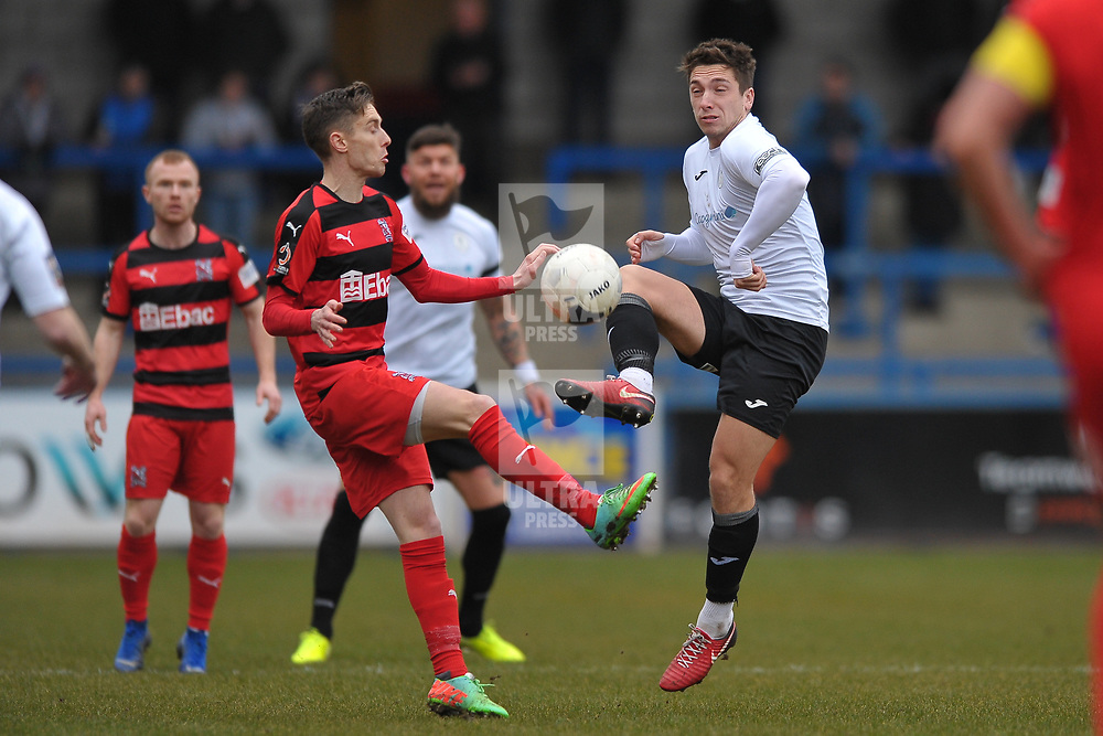 TELFORD COPYRIGHT MIKE SHERIDAN Adam Walker of Telford  during the Vanarama Conference North fixture between AFC Telford United and Darlington at The New Bucks Head on Saturday, March 7, 2020.<br /> <br /> Picture credit: Mike Sheridan/Ultrapress<br /> <br /> MS201920-049