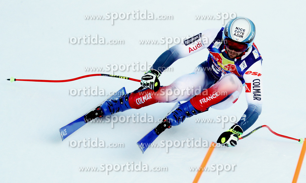 23.01.2020, Streif, Kitzbühel, AUT, FIS Weltcup Ski Alpin, Abfahrt, Herren, 2. Training, im Bild Matthieu Bailet (FRA) // Matthieu Bailet (FRA) in action during his 2nd training run for the men's Downhill of FIS Ski Alpine World Cup at the Streif in Kitzbühel, Austria on 2020/01/23. EXPA Pictures © 2020, PhotoCredit: EXPA/ SM<br /> <br /> *****ATTENTION - OUT of GER*****