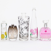 Studio photo of glass product samples