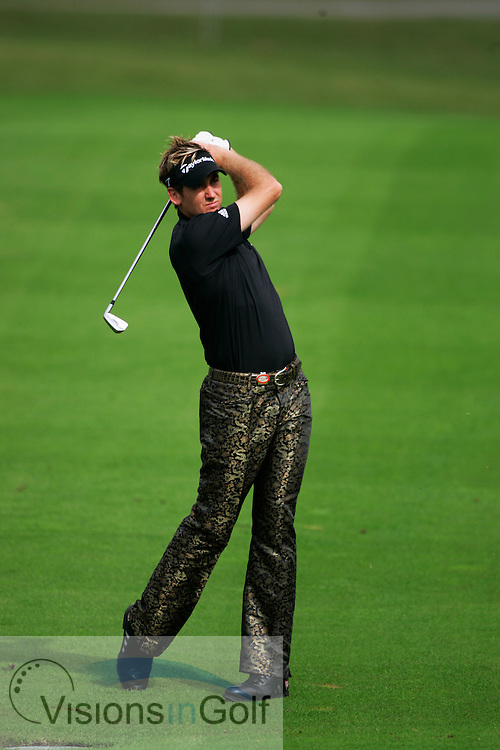 Ian Poulter<br />13th November 2005, final day, Sheshan International GC, Shanghai, China in the HSBC Champions <br />Tournament. <br />Mandatory Photo Credit: Mark Newcombe / visionsingolf.com