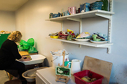 Pottery at Kingswood Centre, a secure centre for people with mental health issues for assessment and/or treatment who may have come into contact with the Criminal Justice System,  London Borough of Enfield, Barnet, Enfield & Haringey Mental Health Trust, London UK