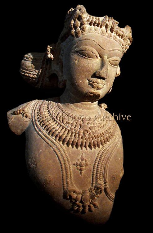 Hindu Celestial being (vidyadhara?) 11th century sandstone sculpture from Madhya Pradesh, India