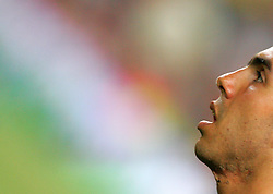 Carlos Tevez warms up before the Joan Gamper Trophy match between Barcelona and Manchester City at the Camp Nou Stadium on August 19, 2009 in Barcelona, Spain. Manchester City won the match 1-0.
