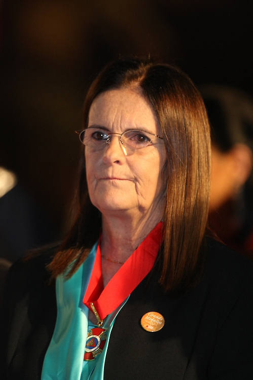 Ouro Preto_MG, Brasil.<br /> <br /> Maria das Gracas Silva Foster, presidente da Petrobras, recebe a Medalha da Inconfidencia, a cerimonia aconteceu em Ouro Preto, Minas Gerais.<br /> <br /> Maria das Gracas Silva Foster, Presidente da Petrobras, receives the Medal of Inconfidencia, the ceremony happened in Ouro Preto, Minas Gerais.<br /> <br /> Foto: RODRIGO LIMA / NITRO
