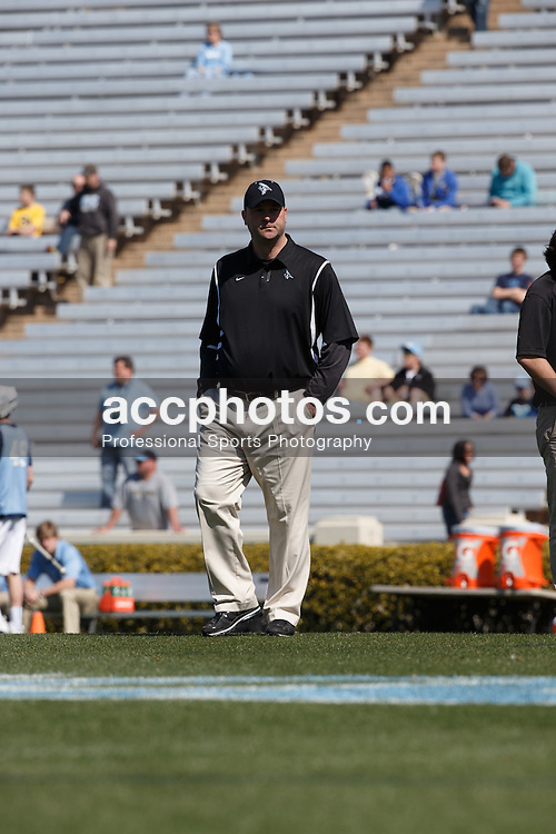 2013 March 30: Head coach Dave Pietramala of the Johns Hopkins Blue Jays during a 10-11 win in overtime loss to the North Carolina Tar Heels at Kenan Stadium in Chapel Hill, NC. (Peyton Williams/Inside Lacrosse)