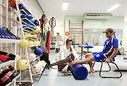 Belo Horizonte, 12 de agosto de 2010..Ensaio do Minas Tenis Clube, como formacao de novos atletas para as Olimpiadas de 2016...Na foto, sala de fisioterapia...Foto: Bruno Magalhaes / Nitro