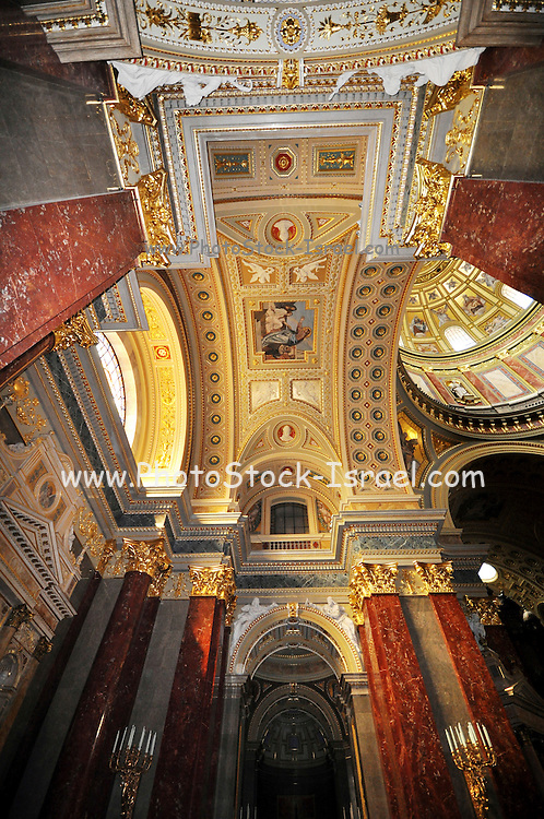 Eastern Europe, Hungary, Budapest, Interior of the St. Stephen's Basilica