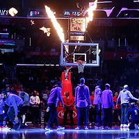 09 December 2017: LA Clippers center DeAndre Jordan (6) is seen during the players introduction prior to the LA Clippers 113-112 victory over the Washington Wizards, at the Staples Center, Los Angeles, California, USA.