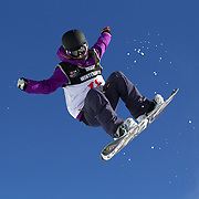 Katarzyna Rusin, Poland, in action during the Women's Half Pipe Finals in the LG Snowboard FIS World Cup, during the Winter Games at Cardrona, Wanaka, New Zealand, 28th August 2011. Photo Tim Clayton...