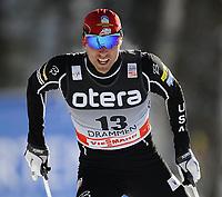 Langrenn<br /> 13th World Cup Competition<br /> 20 februar 2011<br /> Men 1,6 km free sprint qualification<br /> Drammen , Konnerud<br /> Andrew Newell , Usa<br /> Foto : Reidar Talset , Digitalsport