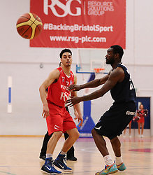 Bristol Flyers' Roy Owen passes the ball  - Photo mandatory by-line: Joe Meredith/JMP - Mobile: 07966 386802 - 11/04/2015 - SPORT - Basketball - Bristol - SGS Wise Campus - Bristol Flyers v Glasgow Rocks - British Basketball League